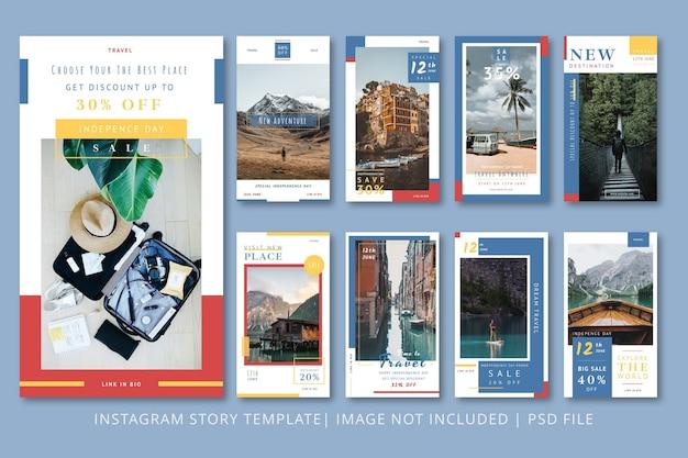 Графический шаблон travel instagram stories
