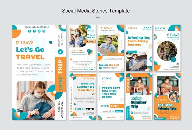 Travel instagram stories template