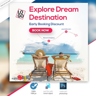 Travel - туры в instagram баннер