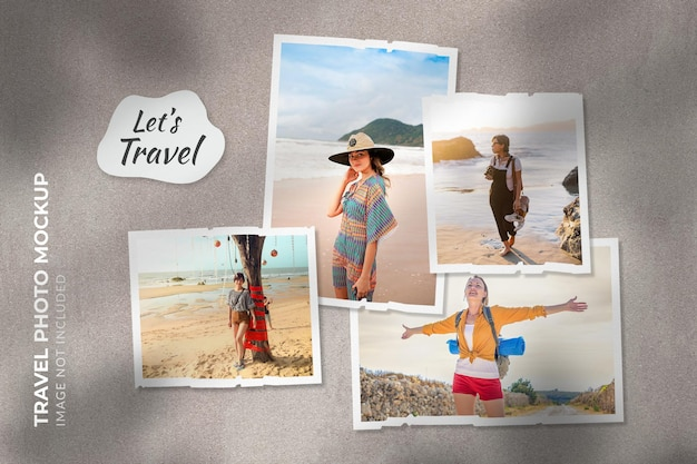 여행 사진 모형
