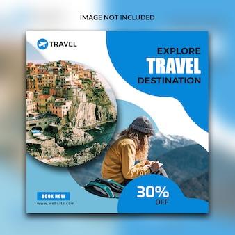 Travel post for social media