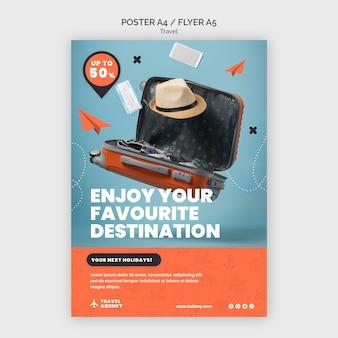 Modello di progettazione di poster di viaggio