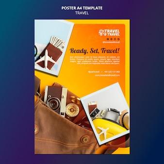 Шаблон туристического плаката