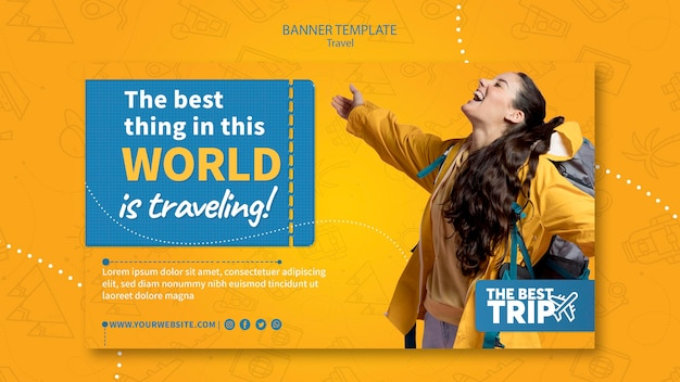 Travel promotion banner template