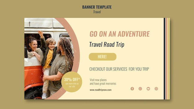 할인 배너와 함께 여행 여행