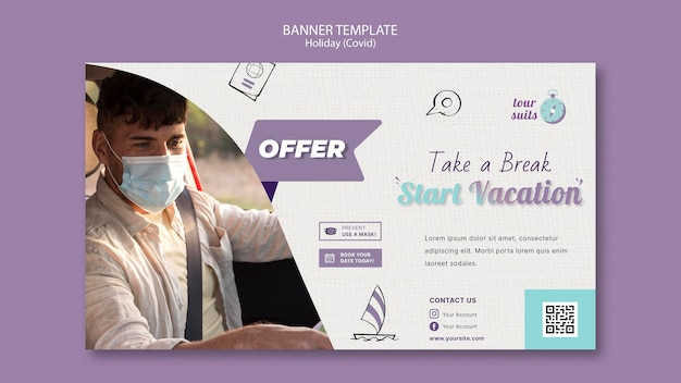 Travel and safety banner template