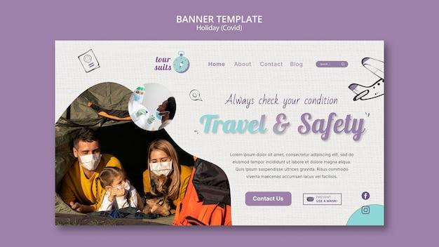 Modello di pagina di destinazione per viaggi e sicurezza