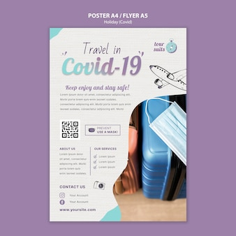 Travel and safety print template