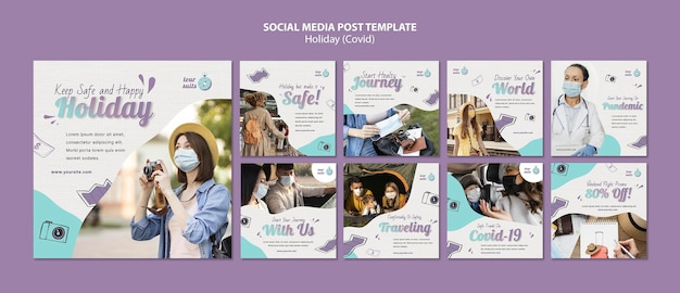 Travel and safety social media posts
