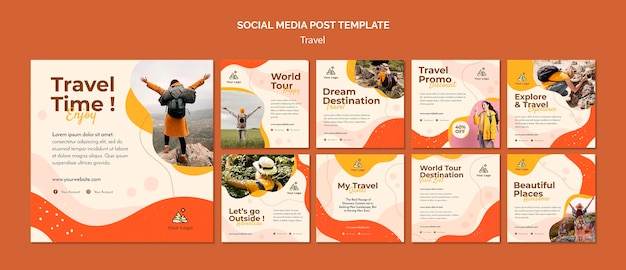 Travel social media post