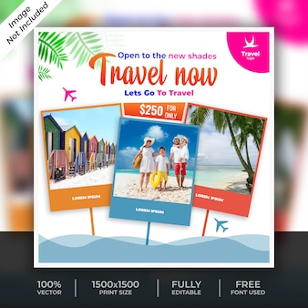 Travel social post template