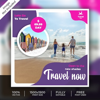 Travel social post template