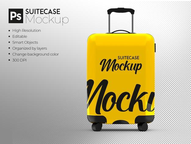 Travel suitcase mockup design rendering