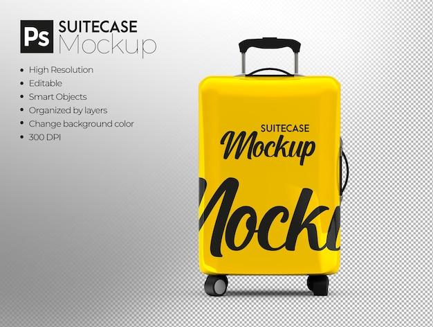 旅行スーツケースのモックアップデザインのレンダリング