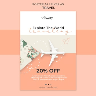 Travel time flyer template