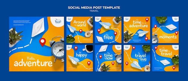 여행 시간 소셜 미디어 게시물 템플릿