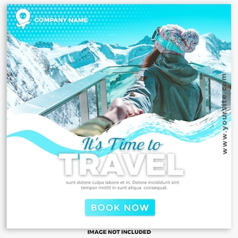 Travel & tours social media post for digital marketing