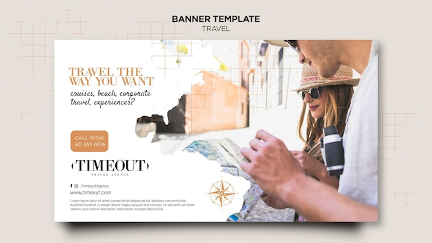 Travel the way you want banner template