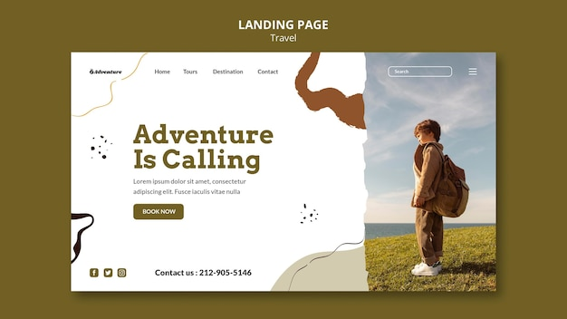 Travel the world landing page