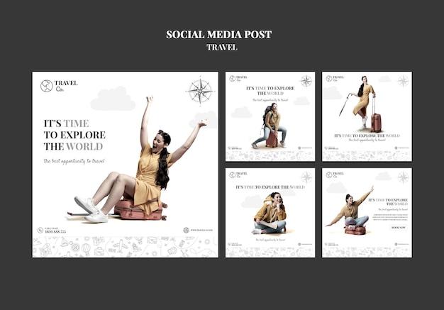 Travel the world social media post