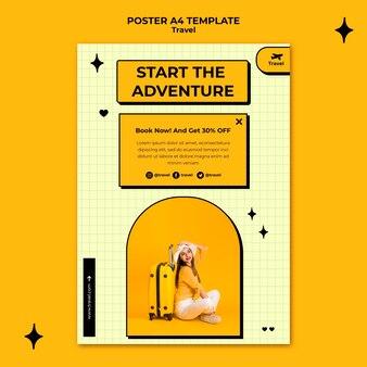 여행 모험 포스터 템플릿 무료 PSD 파일