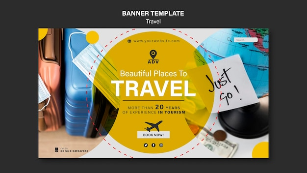 Traveling agency banner template