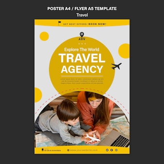 Traveling agency print template