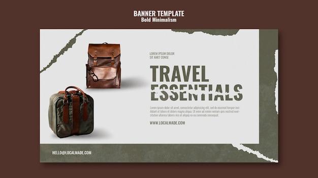 여행 가방 배너 서식 파일