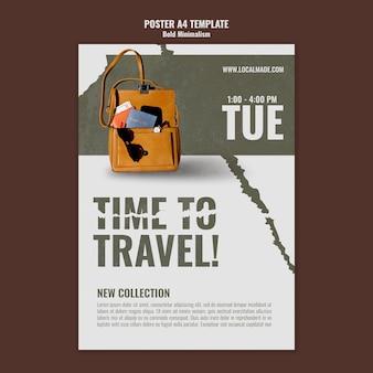 여행 가방 인쇄 템플릿