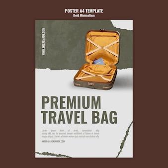 여행 가방 인쇄 템플릿 무료 PSD 파일