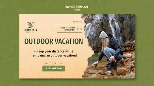 Traveling banner template with photo