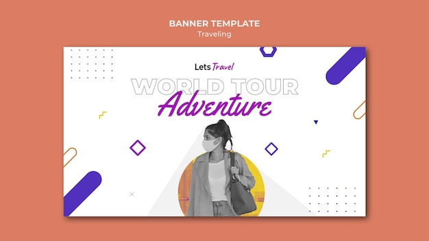 Шаблон туристического баннера