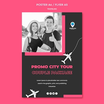 Traveling concept flyer template