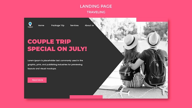 Traveling concept landing page template