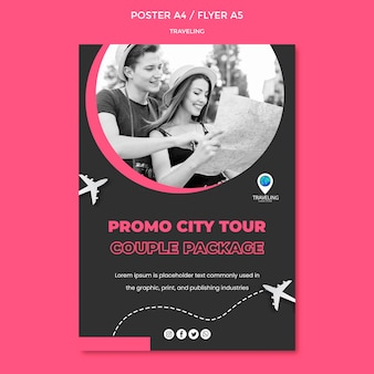 Traveling concept poster template
