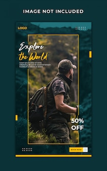 traveling instagram stories banner template