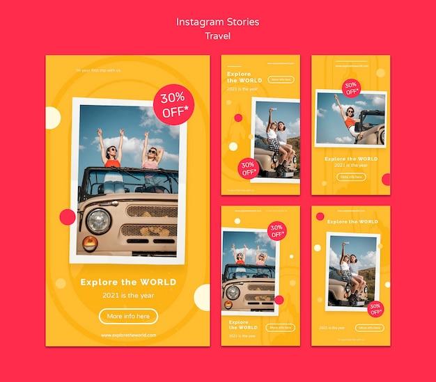 Шаблоны рассказов о путешествиях в instagram