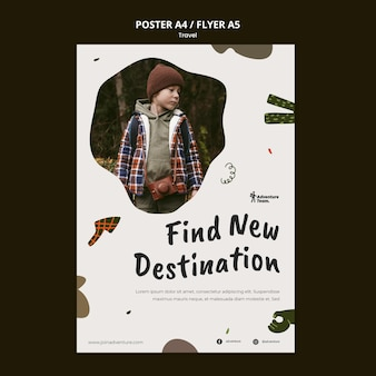Traveling print template with photo