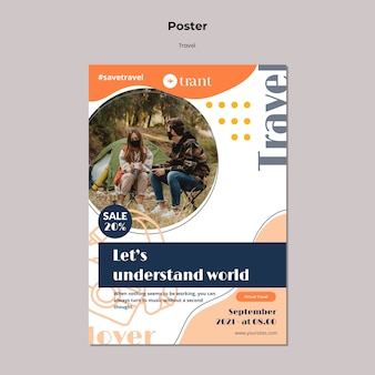 Traveling vertical poster template