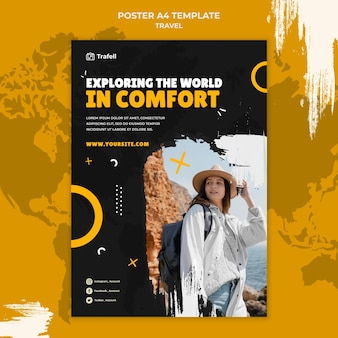 Traveling vertical print template