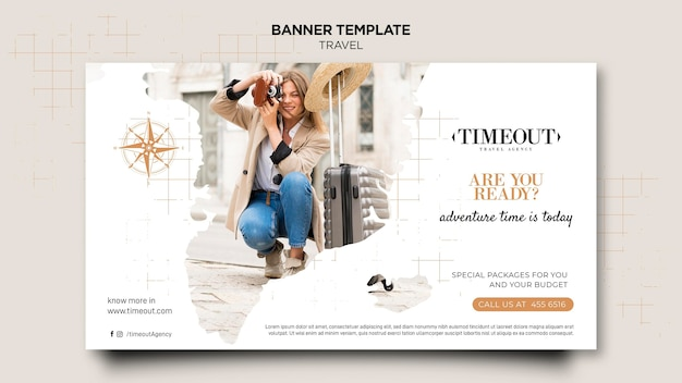 Travelling banner web template