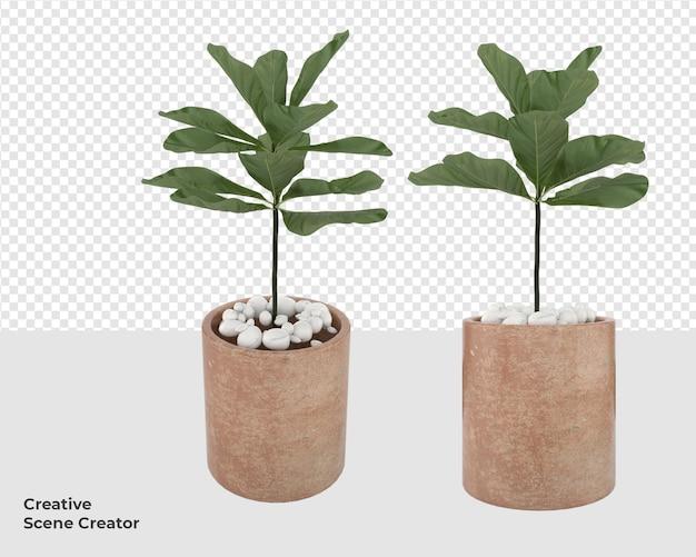 Дерево в горшках для украшения мебели