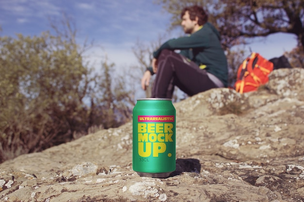 Trekking beer can макет