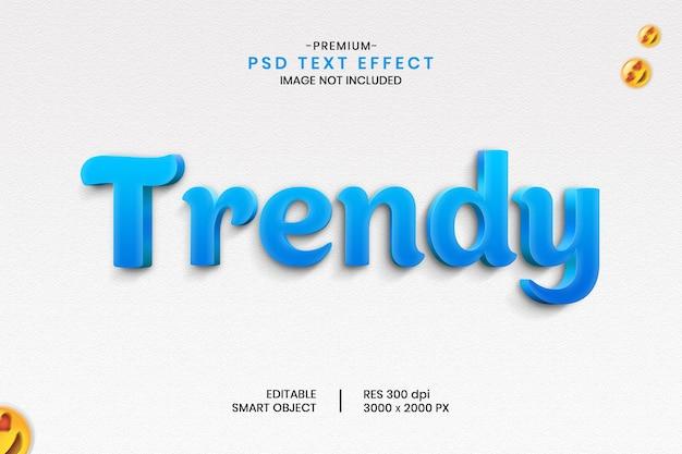 Trendy 3d beautiful text effect