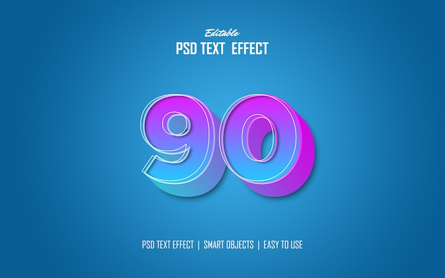 Trendy gradient text effects
