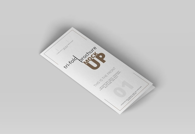Tri-fold brochure mock-up