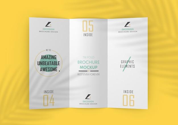 Тройной сгиб макет брошюры