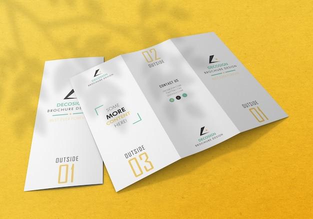 Tri fold брошюра макет