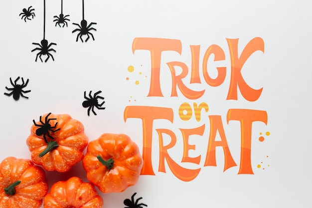 Trick or treat message for halloween