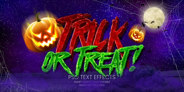 Trick or treat! text effect